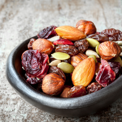 Healthy trail mix for kids.